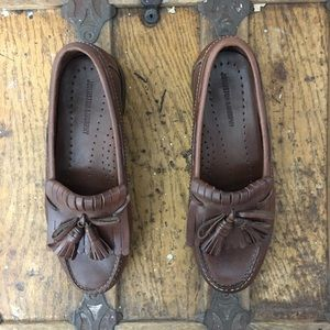 Johnston & Murphy Mens Brown Leather Loafers